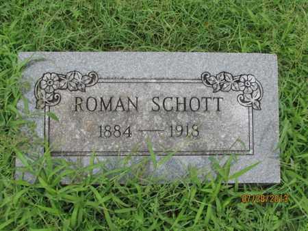 SCHOTT, ROMAN - Montgomery County, Kansas | ROMAN SCHOTT - Kansas Gravestone Photos