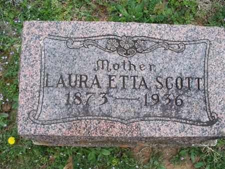 SCOTT, LAURA ETTA - Montgomery County, Kansas | LAURA ETTA SCOTT - Kansas Gravestone Photos