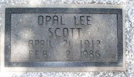 SCOTT, OPAL LEE - Montgomery County, Kansas | OPAL LEE SCOTT - Kansas Gravestone Photos