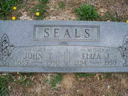 SEALS, ELIZA J - Montgomery County, Kansas | ELIZA J SEALS - Kansas Gravestone Photos