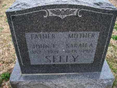 SEELY, SARAH A - Montgomery County, Kansas | SARAH A SEELY - Kansas Gravestone Photos
