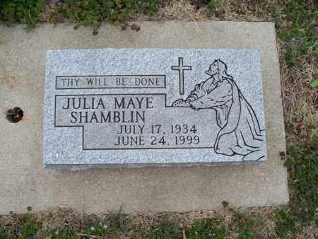 SHAMBLIN, JULIA MAYE - Montgomery County, Kansas | JULIA MAYE SHAMBLIN - Kansas Gravestone Photos