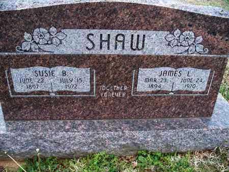SHAW, SUSIE B - Montgomery County, Kansas | SUSIE B SHAW - Kansas Gravestone Photos