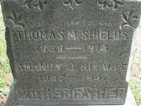 SHIELDS, THOMAS M - Montgomery County, Kansas | THOMAS M SHIELDS - Kansas Gravestone Photos