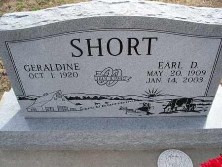 SHORT, EARL D - Montgomery County, Kansas | EARL D SHORT - Kansas Gravestone Photos