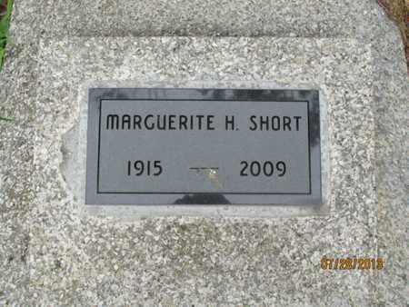 SHORT, MARGUERITE H - Montgomery County, Kansas   MARGUERITE H SHORT - Kansas Gravestone Photos