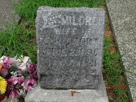 SHORT, MILDRED - Montgomery County, Kansas   MILDRED SHORT - Kansas Gravestone Photos