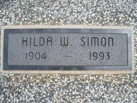 SIMON, HILDA W - Montgomery County, Kansas | HILDA W SIMON - Kansas Gravestone Photos