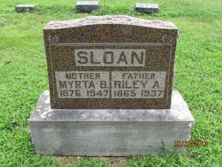 SLOAN, RILEY A - Montgomery County, Kansas | RILEY A SLOAN - Kansas Gravestone Photos