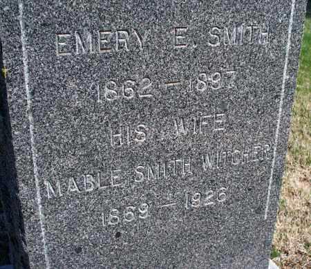 SMITH, EMERY E - Montgomery County, Kansas | EMERY E SMITH - Kansas Gravestone Photos