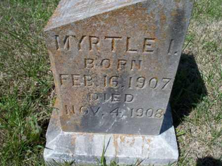 SMITH, MYRTLE I - Montgomery County, Kansas | MYRTLE I SMITH - Kansas Gravestone Photos