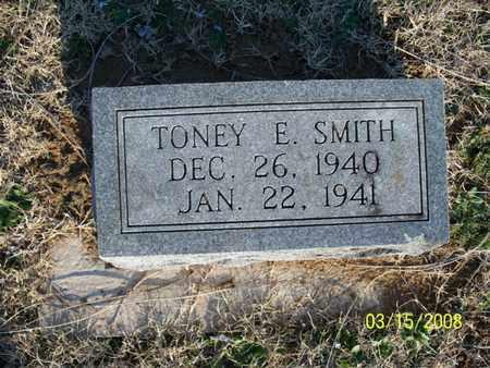 SMITH, TONEY E - Montgomery County, Kansas | TONEY E SMITH - Kansas Gravestone Photos