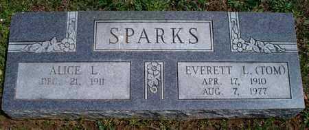 SPARKS     , ALICE L - Montgomery County, Kansas | ALICE L SPARKS      - Kansas Gravestone Photos