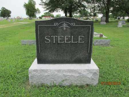 STEELE, FAMILY STONE - Montgomery County, Kansas   FAMILY STONE STEELE - Kansas Gravestone Photos