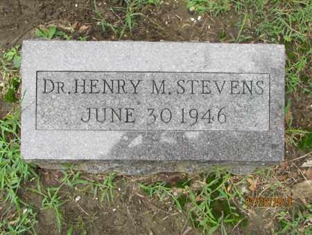 STEVENS, HENRY M, DR - Montgomery County, Kansas | HENRY M, DR STEVENS - Kansas Gravestone Photos