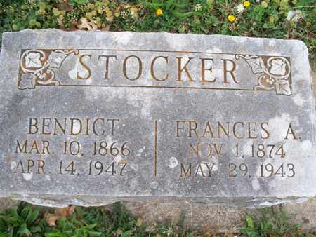 STOCKER, FRANCES A - Montgomery County, Kansas | FRANCES A STOCKER - Kansas Gravestone Photos