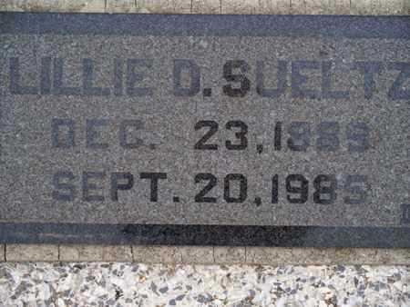 SUELTZ, LILLIE D - Montgomery County, Kansas | LILLIE D SUELTZ - Kansas Gravestone Photos