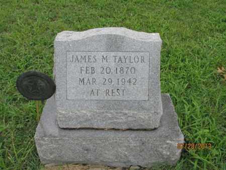 TAYLOR, JAMES M - Montgomery County, Kansas | JAMES M TAYLOR - Kansas Gravestone Photos