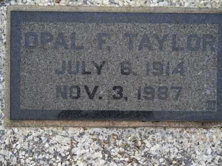 TAYLOR, OPAL F - Montgomery County, Kansas   OPAL F TAYLOR - Kansas Gravestone Photos