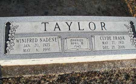 TAYLOR, WINIFRED NADENE - Montgomery County, Kansas | WINIFRED NADENE TAYLOR - Kansas Gravestone Photos