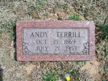 TERRILL, ANDY - Montgomery County, Kansas | ANDY TERRILL - Kansas Gravestone Photos