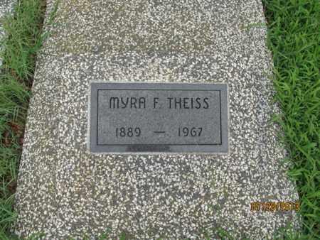 THEISS, MYRA F - Montgomery County, Kansas | MYRA F THEISS - Kansas Gravestone Photos