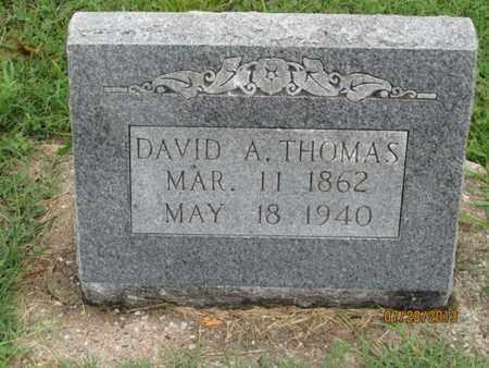 THOMAS, DAVID A - Montgomery County, Kansas | DAVID A THOMAS - Kansas Gravestone Photos