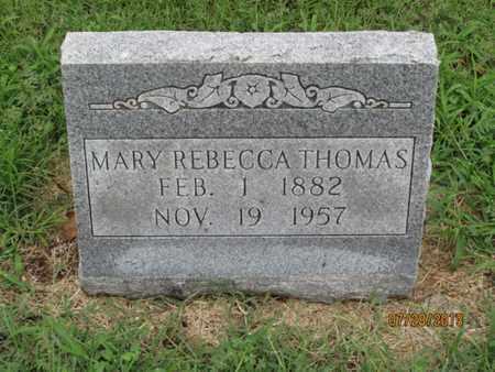 THOMAS, MARY REBECCA - Montgomery County, Kansas | MARY REBECCA THOMAS - Kansas Gravestone Photos