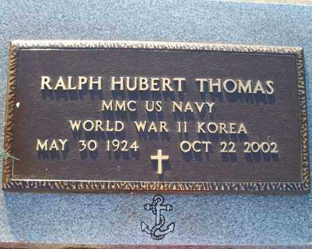 THOMAS, RALPH HUBERT   (VETERAN 2 WARS) - Montgomery County, Kansas | RALPH HUBERT   (VETERAN 2 WARS) THOMAS - Kansas Gravestone Photos