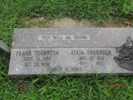 THORNTON, JULIA - Montgomery County, Kansas | JULIA THORNTON - Kansas Gravestone Photos