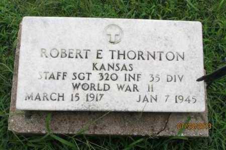 THORNTON, ROBERT E  (VETERAN  WWII) - Montgomery County, Kansas | ROBERT E  (VETERAN  WWII) THORNTON - Kansas Gravestone Photos