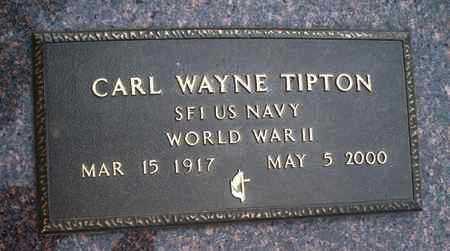 TIPTON, CARL WAYNE  (VETERAN WWII) - Montgomery County, Kansas   CARL WAYNE  (VETERAN WWII) TIPTON - Kansas Gravestone Photos