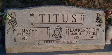 CARNES TITUS, MAYME INEZ - Montgomery County, Kansas   MAYME INEZ CARNES TITUS - Kansas Gravestone Photos