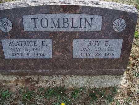 TOMBLIN, ROY E - Montgomery County, Kansas   ROY E TOMBLIN - Kansas Gravestone Photos