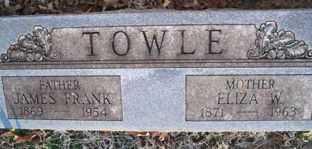 TOWLE, JAMES FRANK - Montgomery County, Kansas | JAMES FRANK TOWLE - Kansas Gravestone Photos