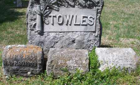 TOWLES, HETTIE L - Montgomery County, Kansas | HETTIE L TOWLES - Kansas Gravestone Photos