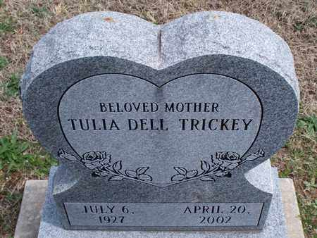 DELL TRICKEY, TULIA - Montgomery County, Kansas | TULIA DELL TRICKEY - Kansas Gravestone Photos