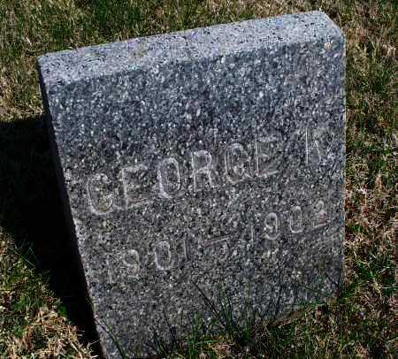 UNKNOWN, GEORGE K - Montgomery County, Kansas | GEORGE K UNKNOWN - Kansas Gravestone Photos