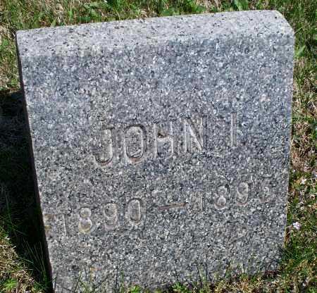 UNKNOWN, JOHN I - Montgomery County, Kansas | JOHN I UNKNOWN - Kansas Gravestone Photos