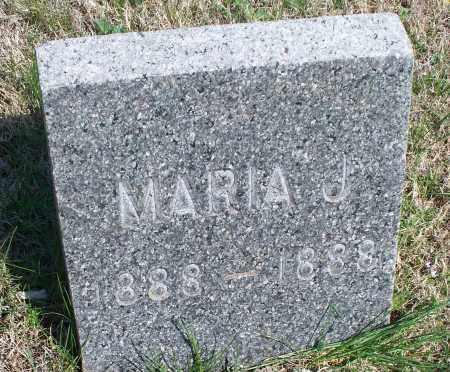UNKNOWN, MARIA J - Montgomery County, Kansas | MARIA J UNKNOWN - Kansas Gravestone Photos
