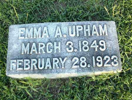 UPHAM, EMMA A - Montgomery County, Kansas   EMMA A UPHAM - Kansas Gravestone Photos