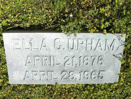 UPHAM, ELLA G - Montgomery County, Kansas | ELLA G UPHAM - Kansas Gravestone Photos