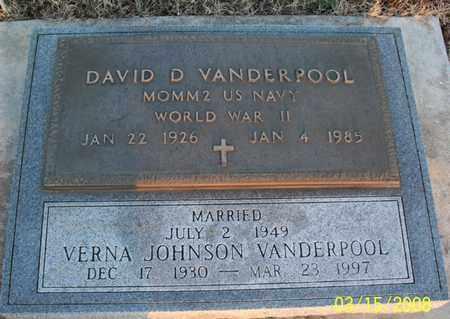 VANDERPOOL, DAVID D   (VETERAN WWII) - Montgomery County, Kansas | DAVID D   (VETERAN WWII) VANDERPOOL - Kansas Gravestone Photos