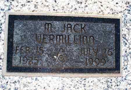 VERMILLION, M JACK - Montgomery County, Kansas | M JACK VERMILLION - Kansas Gravestone Photos