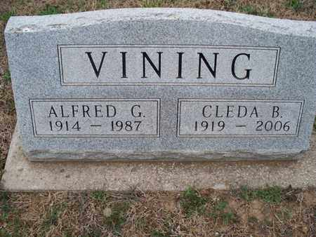 VINING, ALFRED G - Montgomery County, Kansas | ALFRED G VINING - Kansas Gravestone Photos