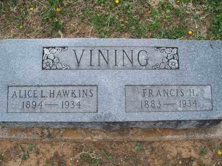 HAWKINS VINING, ALICE L - Montgomery County, Kansas | ALICE L HAWKINS VINING - Kansas Gravestone Photos
