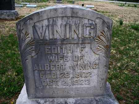VINING, EDITH F - Montgomery County, Kansas | EDITH F VINING - Kansas Gravestone Photos