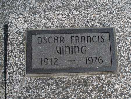 VINING, OSCAR FRANCIS - Montgomery County, Kansas | OSCAR FRANCIS VINING - Kansas Gravestone Photos