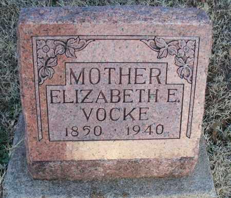 VOCKE, ELIZABETH E - Montgomery County, Kansas | ELIZABETH E VOCKE - Kansas Gravestone Photos