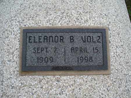 VOLZ, ELEANOR B - Montgomery County, Kansas | ELEANOR B VOLZ - Kansas Gravestone Photos